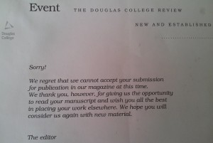 rejection letter