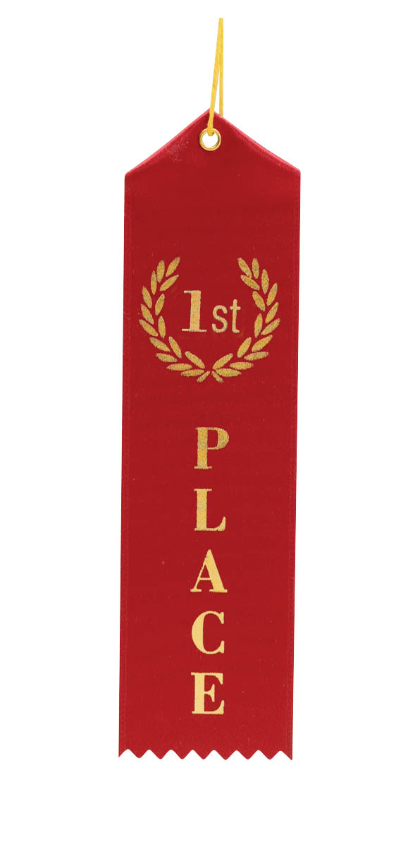 first place ribbon First Place Ribbon Red