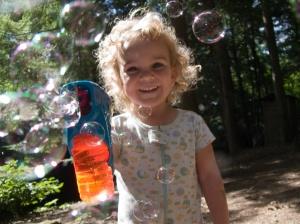 Kara with the bubble gun