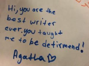 agatha's note