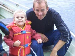 Quinn (age 4) and David