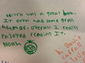 Noah's note