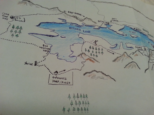 hand drawn map of race course