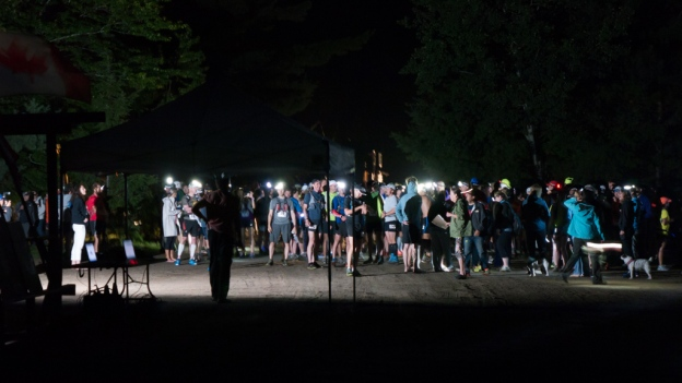 Starting line, 5:58 a.m.